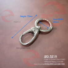 Stong silver colour of 1 inch Ring Round shaped Snap Hook